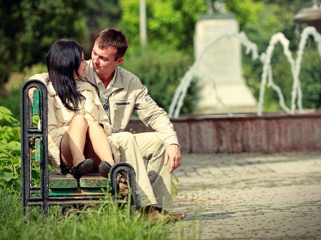 Фото: Романтический отдых в парке влюбленных