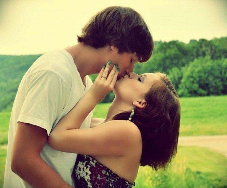 Девушка парень целуются картинки
