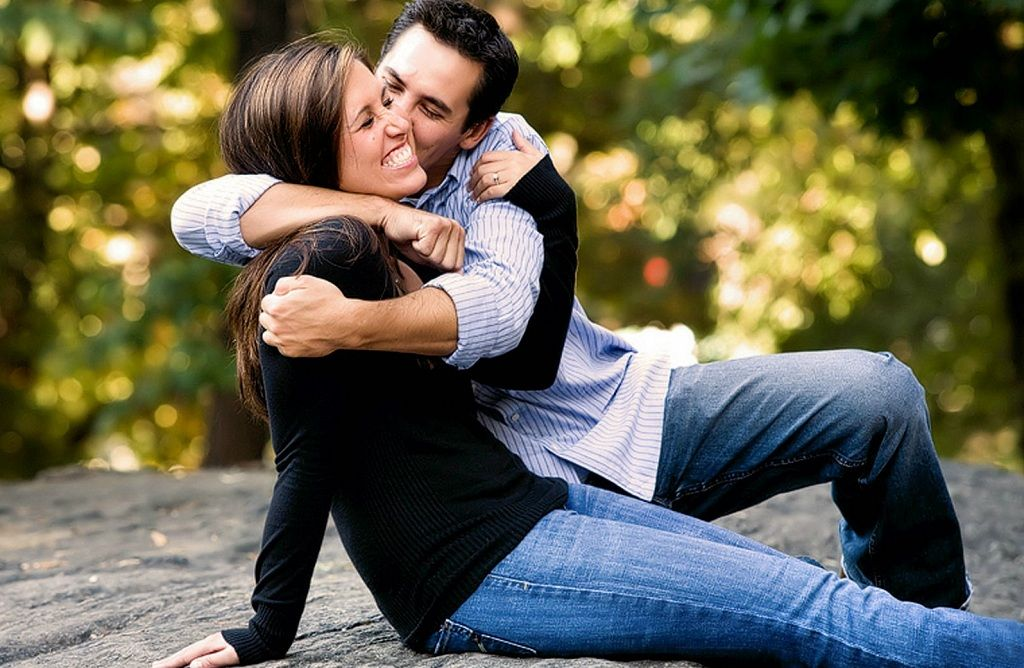 Фото: Красивая пара влюбленных