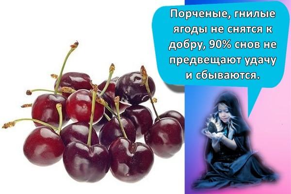 Порченые, гнилые ягоды не снятся к добру, 90% снов не предвещают удачу и сбываются.