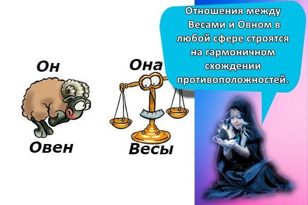 Отношения между Весами и Овном в любой сфере строятся на гармоничном схождении противоположностей.