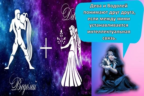 Дева и Водолей понимают друг друга, если между ними устанавливается интеллектуальная связь.