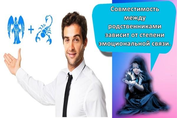 Совместимость между родственниками зависит от степени эмоциональной связи.