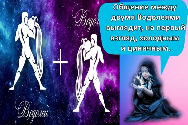 Общение между двумя Водолеями выглядит, на первый взгляд, холодным и циничным.