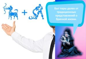 Совместимость и проблемы в отношениях женщины-Стрельца и мужчины-Водолея