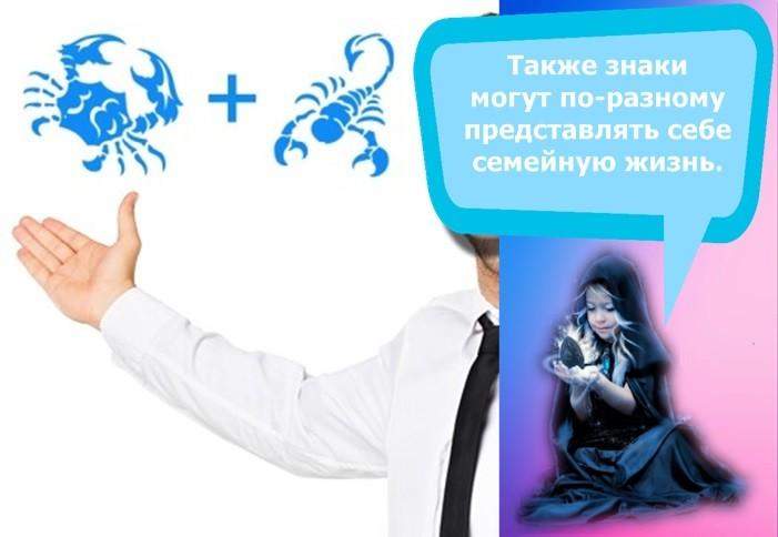 женщина скорпион мужчина рак совместимость